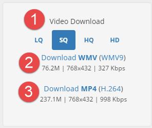 video download options SQ
